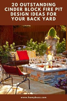 20 Outstanding Cinder Block Fire Pit Design Ideas for Your Back Yard - HomyBuzz Outdoor Events, Outdoor Fun, Cinder Block Fire Pit, How To Build A Fire Pit, Types Of Fire, Fire Pit Designs, Sit On Top, Outdoor Decorations, Your Back