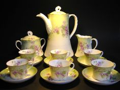 Antique 19c. Original RUSSIAN IMPERIAL PORCELAIN COFFEE SET for 6 by F. GARDNER | eBay