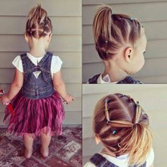 Fun updo for little girls! Perfect for school time!