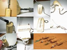 Beaded Wine Cork Keychains- clever and easy- perfect for remembering a honeymoon, wedding, or special event.