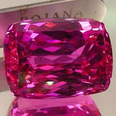 30.0 CT UNTREATED NATURAL CUSHION-CUT INTENSE PINK TOPAZ