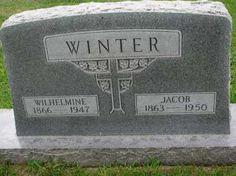 WINTER, WILHELMINE - Hutchinson County, South Dakota | WILHELMINE WINTER - South Dakota Gravestone Photos