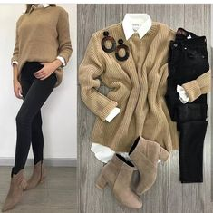 63 Attention Grabbing Cute Fall Outfits for Pretty Women Who Love to Look Cute Casual Work Outfits, Cute Fall Outfits, Mom Outfits, Winter Fashion Outfits, College Outfits, Fall Winter Outfits, Look Fashion, Stylish Outfits, Dress Winter