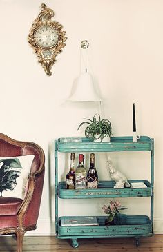 my new obsession- find a super cool drink trolley like this one!!