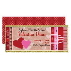 Valentine's Valentine Party Admit One VIP Dance Card - bridal shower gifts ideas wedding bride