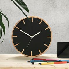 Cog Wooden Wall Clock by ByShop, the perfect gift for Explore more unique gifts in our curated marketplace. Plywood Art, Plywood Walls, Wooden Walls, Giant Wall Clock, Wall Clock Design, Clock Decor, Wood Clocks, Cogs, Wooden Decor