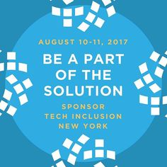 Be a Sponsor and Build Inclusive Tech Hubs with Intentionality 🚀⠀ Join Change Catalyst / Viacom / Galvanize in NY on Aug 9-10th⠀ .⠀ Tickets will sell out (seriously) http://buff.ly/2tAmb2F  techchanges,bias,inclusivedesign,diversityintech,learnprivilege,change,techinclusion,companyculture,unconsciousbias,100daysofsolutions,changingthefaceoftech,diversity,inclusion,equality,learningbias,diversityandinclusion,inclusiveness,diversitymatters,representation