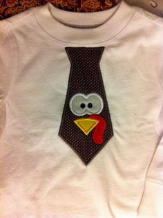 Thanksgiving shirt for boys, but would like the tie a bit longer.  @Raquel Cook