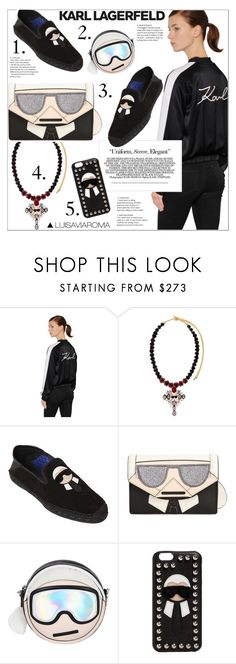 """""""Karl Mania"""" by luisaviaroma ❤ liked on Polyvore featuring Karl Lagerfeld, Bijoux de Famille, Fendi, Prada, karllagerfeld, luisaviaroma and lvr"""