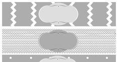 free printable baby shower water bottle label gray.pdf