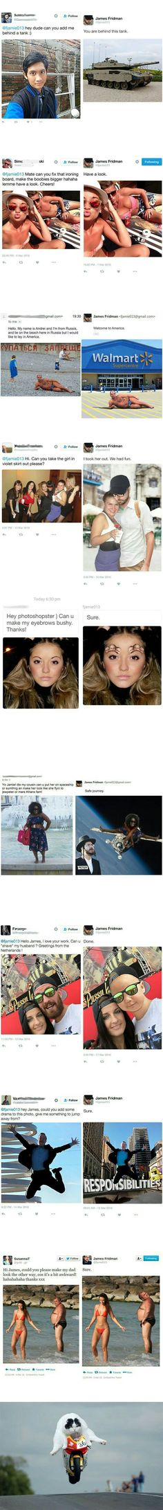 When Photoshop master has his own mind! Part 1 - 9GAG