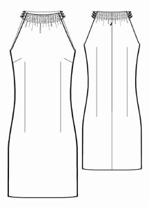 Free Pattern sz. S-XL - Sleeveless Dress