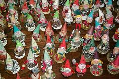 Fantastic Collection * Old Pinecone Elves//I used to have one of these made by my Grandpa Cole.  I wonder where it is?