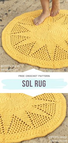 Crochet Home, Love Crochet, Easy Crochet, Knit Crochet, Crochet Braid, Crochet Rug Patterns, Crochet Stitches, Interior Design Trends, Crochet Projects