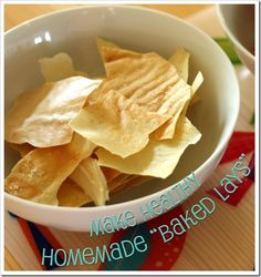 Baked Lays potato chips.   Cooked potatoes dried in the dehydrator. A little bit of work, but healthier and delish.