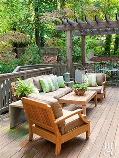 Building a deck is a doable task, but it takes research and skill. Here are a few things you'll need to know before tackling building a simple DIY deck. Deck With Pergola, Pergola Plans, Gazebo, Pergola Ideas, Small Pergola, Landscaping Ideas, Pergola Designs, Backyard Ideas, Sloped Backyard