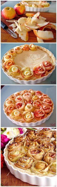 Tarte aux pommes en forme de roses #modesettravauxenfete #modesettravaux