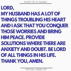 Prayer for my husband is something that we should always be doing as it helps us to see our husband with fresh eyes. Keep your on track and your appreciation for your hubby in check with these prayers. Prayer for family is always a very good thing! Marriage Prayer, Godly Marriage, Happy Marriage, Marriage Advice, Love And Marriage, Healthy Marriage, Godly Relationship, Couples Prayer, Fierce Marriage