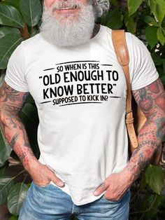 Funny Shirts, Tee Shirts, Tees, Shirt Men, Thing 1, Shirts With Sayings, Mens Clothing Styles, Types Of Sleeves, Cool Outfits