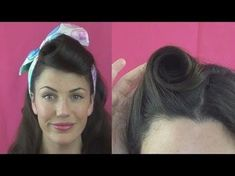 Retro Hairstyles Must practice hair - How to roll victory rolls? Check out this video tutorial to learn 6 different ways to style your hair the pinup way. Maquillage Pin Up, Victory Roll Hair, Pin Up Vintage, Retro Vintage, 1940s Hairstyles, Wedding Hairstyles, Lazy Hairstyles, Hairstyles Videos, Hairstyle Tutorials