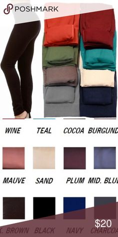 High Waist Fleece Lined Leggings Super soft, stretchy, comfortable, and warm. Fleece lined leggings. High waist for tummy control. One size (fits up to a size 12 comfortably). Color: Sand Pants Leggings