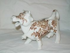 Vintage Staffordshire Transfer Ware Cow Creamer
