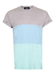 Colour Block Stripe T-Shirt - Printed T-shirts - Men's T-Shirts & Vests - Clothing - TOPMAN