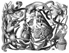 Inspirada en los grabados y dibujos científicos de los siglos XVI y XVII, la ilustradora estadounidense Olivia Knapp ha desarrollado un impresionante estilo de ilustración que ha plasmado bajo el nombre de grandes marcas, diversas publicaciones impresas, colecciones de ropa y en varios murosde la calle, galerías y agencias. Los invito a que conozcan mas del intrincado trabajo de esta señorita originaria de Seattle.Olivia Knapp
