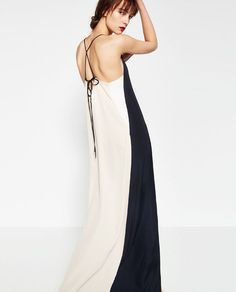 Image 4 of TRI-COLOUR DRESS from Zara