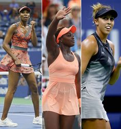 #BlackGirlMagic at 2017 US OPEN Venus Williams is 37-year-old pro making history with two other black female American players Sloane Stephens (24) and Madison Keys (22). All three advanced to the quarterfinal round of the US Open.