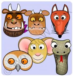 The Gruffalo Mask Set - Hakelns Gruffalo Eyfs, Gruffalo Activities, Gruffalo Party, The Gruffalo, Infant Activities, Craft Activities, Gruffalo Costume, Crafts To Make, Crafts For Kids