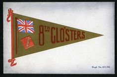 Old Postcard. Ww1.  The 8th Glos`ters.   Army Pennant Series.  Dated 1915 in Collectables, Postcards, Military, World War I (1914-1918) | eBay