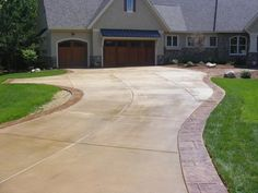 stamped concrete driveway border - Google Search