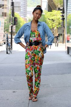 Floral + chambray in Montreal