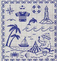 This is a great cross stitch block, Cross Stitch Sea, Cross Stitch For Kids, Cross Stitch Charts, Cross Stitch Designs, Cross Stitch Patterns, Cross Stitching, Cross Stitch Embroidery, Embroidery Patterns, Swedish Weaving