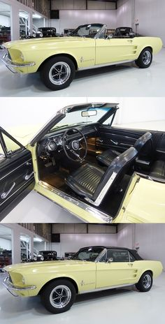 mustang car Meticulously Maintained Springtime Yellow 1967 Ford Mustang Convertible for Sale at Daniel Schmitt amp; Ford Mustang 1967, Ford Mustang Convertible, Mustang Cabrio, Car Ford, Ford Trucks, Best Convertible Cars, Ford Mustang History, Gt Mustang, Ford Mustangs