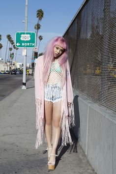 Chanel Castaneda in the Stay Forever Kimono