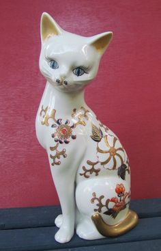 Sweet Cat Figurine by TheBarnAntiques on Etsy