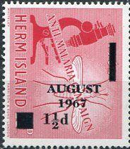 Francobolli . Lotta contro la malaria - Malaria on Stamps Isola Herm 1967