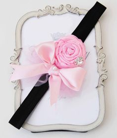 Princess Pink Rose with Rhinestone Hight Quality Satin by cacababy