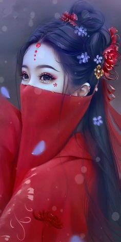Anime Art Fantasy, Fantasy Art Women, Beautiful Fantasy Art, Fantasy Girl, Dark Fantasy Art, Anime Angel Girl, Cool Anime Girl, Beautiful Anime Girl, Kawaii Anime Girl