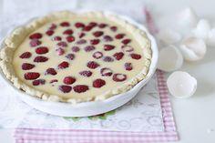 Малиновый пирог с белым шоколадом | Лучшие рецепты