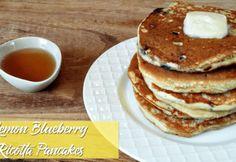No Flip Over Easy Eggs | Mrs Kringle's Kitchen Blueberry Ricotta Pancakes, Over Easy Eggs, Perfect Eggs, Pancake Stack, Frozen Blueberries, Fresh Lemon Juice, Stuffed Peppers, Syrup, Baking