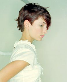 A short brown straight Womens haircut hairstyle by Boons Hair Salon