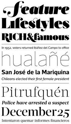 acta typeface- baroque serif  I like!