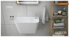 כיור שרותי אורחים תלוי פרימו 28/45 לבן Sink, Bathtub, Bathroom, Home Decor, Sink Tops, Standing Bath, Washroom, Vessel Sink, Bath Tub