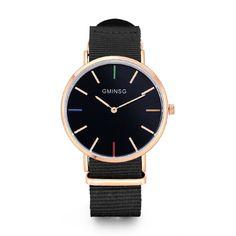 Модные повседневные мужские часы лучший бренд gminsg роскошные кожаные бизнес-кварц-часы женские наручные часы Relogio masculino 2017