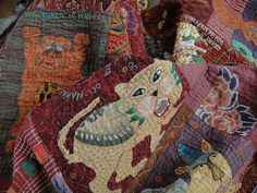 lion quilt 143 by jude hill, via Flickr