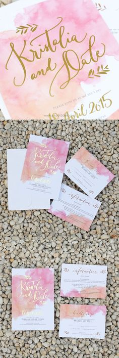Watercolor splashed into an invite describes the Anna suite perfectly! With it's…