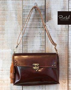 Dark brown cross body bag, brown leather bags, medium size shoulder bag